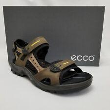 NEW $130 ECCO Yucatan EU 44 10-10.5 Offroad Mens Leather Sandals Tarmac Moonrock
