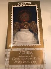 Classic American Dolls 1997 Horsman Cloth Doll~Althea 1997 Stamp Issue w Box