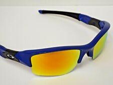 Authentic Customized Oakley Flak Jacket XLJ Blue Fire Iridium Polar Sunglasses