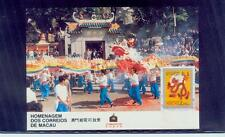 macau/1988 dragon-chinese new year-maxi card/mnh.good codition