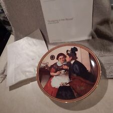 "Collector Plate #6 Rockwell's Rediscovered Women, ""Gossiping in Alcove"" Cp55"