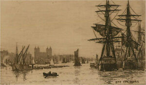 Wilfrid Williams Ball RE ROI (1853-1917) - Etching Miniature, Off the Tower