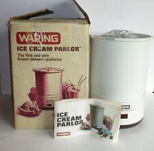 New ListingVintage Waring Ice Cream Parlor Maker 11Cf10 W/ Box & Instruction Recipe Manual