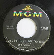 Country 45 Hank Williams, Jr. - It'S Written All Over Your Face / Standing In Th