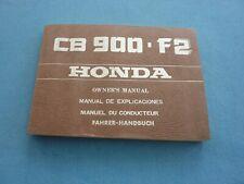 HONDA CB900 F2 CB 900 ORIGINAL OWNERS MANUAL