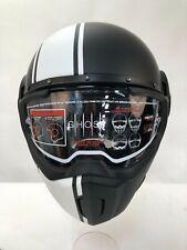Caberg fantasma Leyenda Mate Negro y Blanco de la motocicleta casco Matt XL