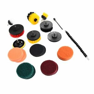 24x All Purpose Cleaning Kit Electric Drill Brush Attachment Set Power Scrubber