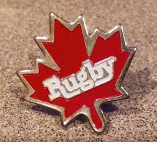 Canada Rugby Maple leaf pin badge