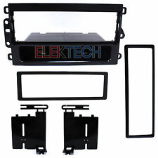 Radio Replacement Dash Mounting Install Kit 1-DIN w/Pocket for Chevy Silverado