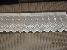 "66"" Wide x 19.5"" High Open Lace Valance Scallop Edge Floral Diamond Shape Design"
