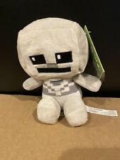 "JINX Minecraft Mini Crafter Skeleton Plush Stuffed Toy 4.5"" NEW"