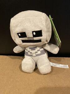"JINX Minecraft Mini Crafter Skeleton Plush Stuffed Toy 4.5"" NEW"