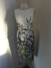 size 18 beige / green shift dress marks and spencer brand new