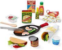Melissa & Doug Madera Taco Set Relleno & Pliegue 43 Pieza Juguete & Accesorios