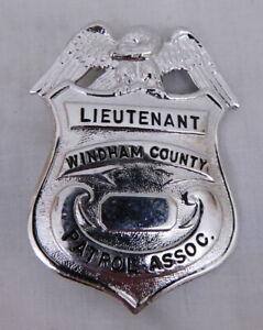 Vintage Obsolete - Windham County Patrol Assoc. Badge
