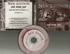 NEW EDITION One more day SINGLE VERSION WITHOUT DIALOGUE PROMO DJ CD Single 1997