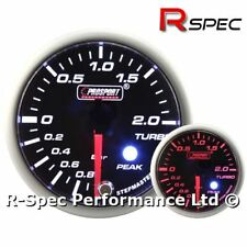 BIANCO/AMBRA motore passo-passo picco Turbo Boost Gauge BAR con allarme regolabile
