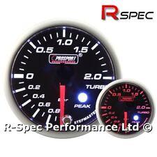 52mm Prosport Premium Amber / White Stepper Motor Peak Turbo Boost Gauge - BAR