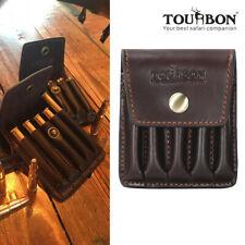 Tourbon боеприпасы для ружья держатель из натуральной кожи пули картриджи мешочек для пояса винтаж