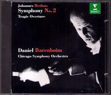 Daniel BARENBOIM: BRAHMS Symphony No.2 Tragic Overture ERATO CD 1994 Chicago SO
