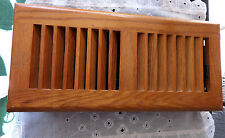 Oak Heat and Air Vent Cover - Oak Top with Plastic Base and Louvers