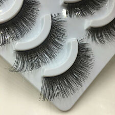5 Pairs Handmade Soft Natural Cross Thick Long False Eyelashes Eye Lashes Makeup