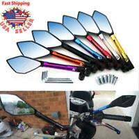 Motorcycle Blade Rearview Custom Mirrors For Honda Suzuki Kawasaki Yamaha 8-10mm