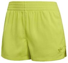 Adidas Women's DU8494 High-Waist Shorts, Semi Solar Yellow ( L )