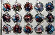 15 Brave Merida Silver Flat Bottle Cap Necklaces Set 2
