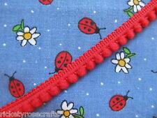 MINI POM POM TRIM PER METRE OR WHOLE 25m REEL Tiny 4mm Bobbles Fringe