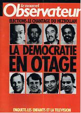 LE NOUVEL OBSERVATEUR N°1114  la democratie en otage