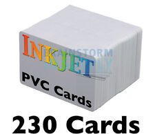 230 High-Quality Inkjet PVC Cards - For Epson & Canon Inkjet Printers