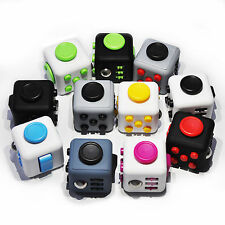 Fiddle Fidget Cube Children Kids ADHD Desk Focus Toy Adults Stress Relief Gift