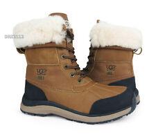 UGG Adirondack III Chestnut Leather Fur Boots Womens Size 8 *NIB*