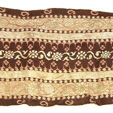 1m (3 foot) LONG Old Antique India SARI Saree TRIM Embroidered Textile 652j2