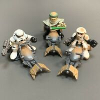 3PCS Playskool Star Wars Galactic Heroes Speeder Bike -Luke Skywalker & Trooper