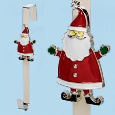 Christmas 38cm Character Wreath Hanger - Metal Santa