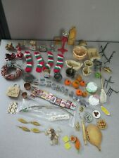 LARGE LOT OF DOLLHOUSE MINIATURES
