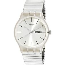 Swatch Men's Resolution SUOK700A Silver Stainless-Steel Plated Fashion Watch