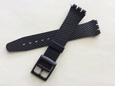 Cinturino in gomma per Swatch Gent 17mm Quadrettato Nero watch band strap 245/P