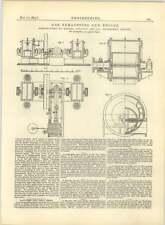1883 Gwynne e co-GAS exhausters, diagramma