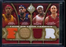LEBRON JAMES BEN WALLACE 2009-10 UD SP GAME USED AUTHENTIC WORN JERSEY