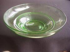 ART DECO URANIUM GLASS BOWL /  DISH ~SUPERB TRADITIONAL DESIGN
