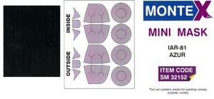 Montex 1/32 Romanian IAR-81 CANOPY PAINT MASK Azur Models