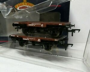 Bachmann 37-980 Conflat BR Bauxite 2 per Box brown wagons set of 2 BNIB OO (j)