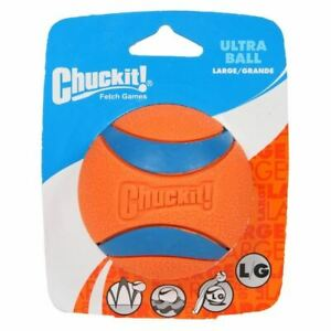 Chuckit Ultra Ball - High Visibility - Durable - 7.3cm - 1 Pack - Large