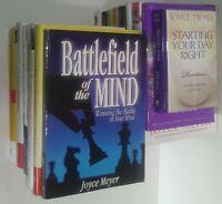 Lot of 17 Joyce Meyer Books Pentecostal Christian Living & Inspiration