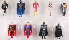 2002 Justice League Lot w/ Variants & Display Bases 100% Complete Set Of 9
