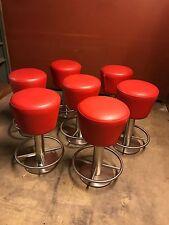 tabourets de bar Cuir rouge Pedrali Galaxy H63