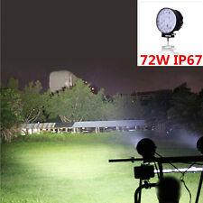 72W 12V/24V LED Work Spot Light Bar Beam Off-road Bar Lamp SUV Car Truck Boat